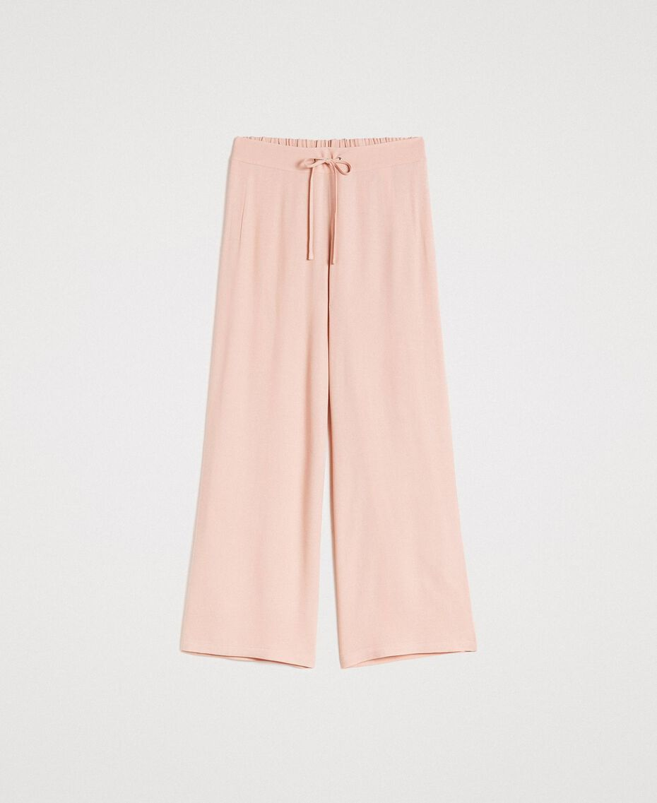 Crêpe palazzo trousers Delicate Pink Woman 191LL23EE-0S
