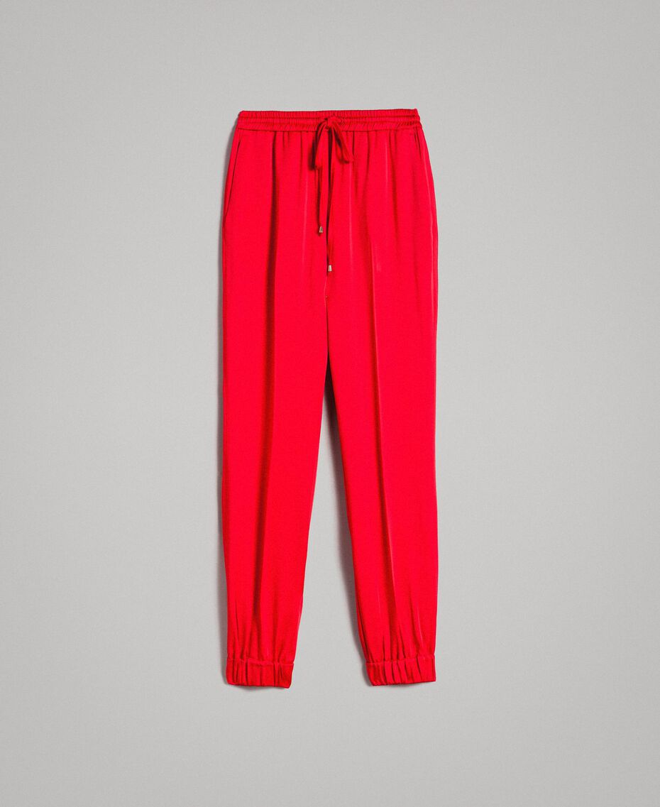 "Joggers mit Tunnelzug ""Ruby"" Rot Frau 191TP2692-0S"