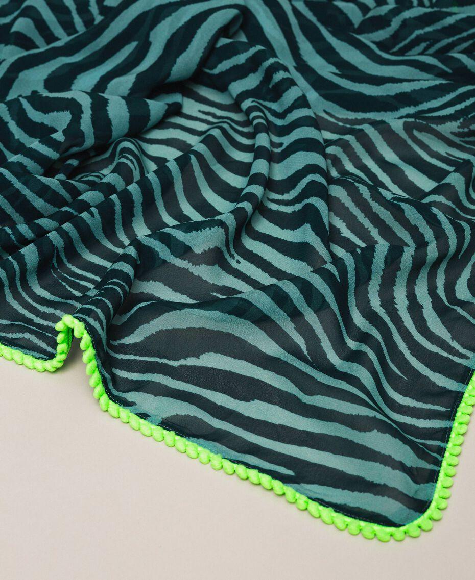 Pareo con animal print Estampado Cebra Verde «Atlantic Deep» Mujer 201LB4GHH-02