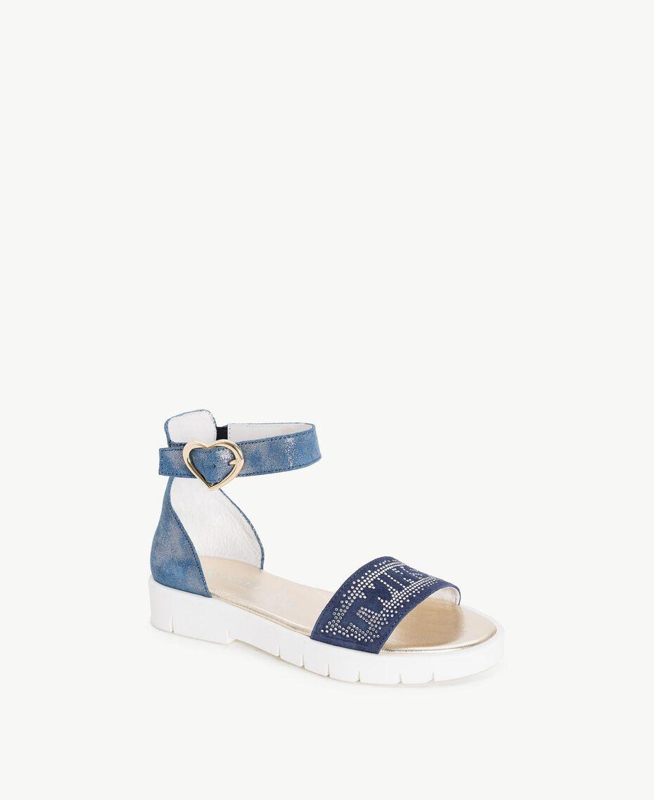 Sandale mit Strass Unendlichkeits-Azur Kind HS88DQ-02