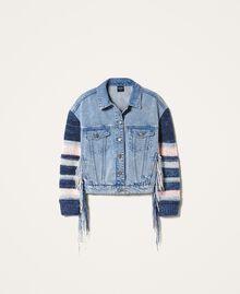 Джинсовая куртка с бахромой Деним Светлый женщина 202MP2463-0S
