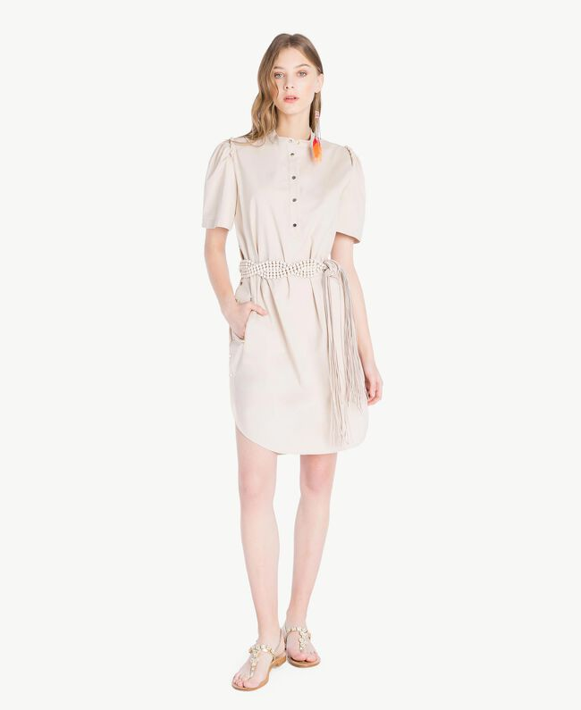 Kleid aus Popeline Dune Frau TS821R-01