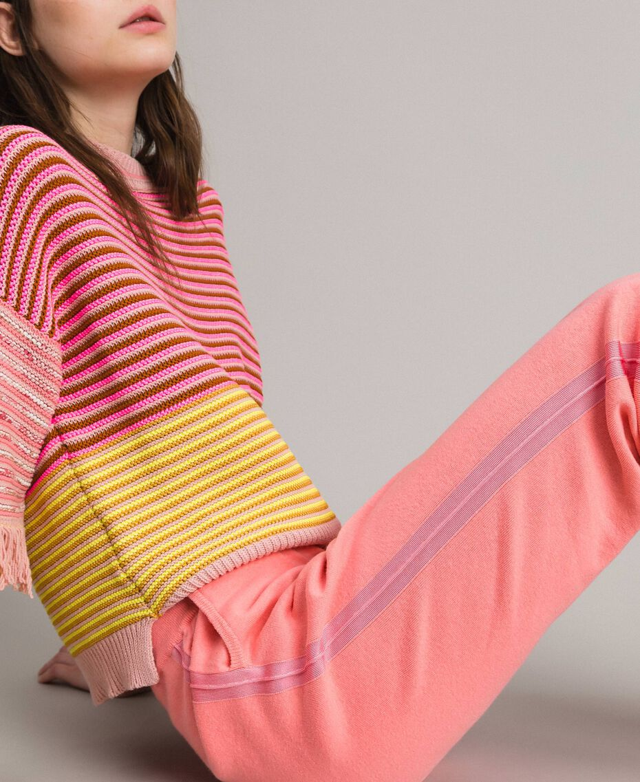 """Cashmere blend jogging trousers """"Wild Rose"""" Pink Woman 191TP3067-02"""