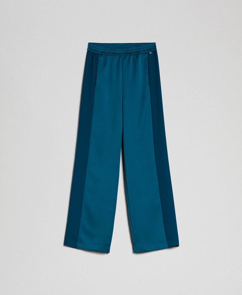 "Palazzohose mit Kontraststreifen ""Lake"" Blue Frau 192MP2352-0S"