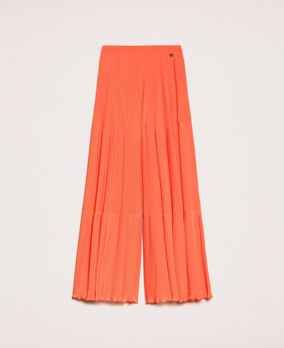 Pleated georgette trousers Antique White Woman 201TT2094-0S