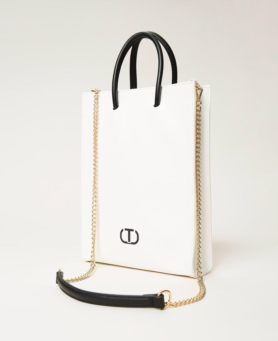 Shopper with printed logo White Woman 211TD8091-01