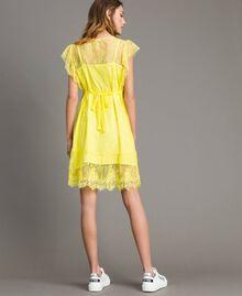 Chantilly-Kleid mit Spitze und Gürtel Schwarz Frau 191ST2121-04