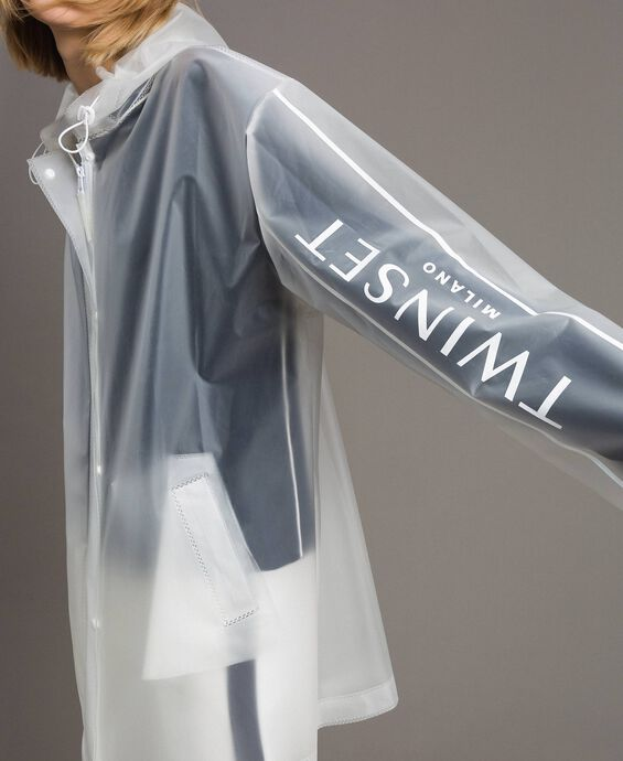 Raincoat with logo