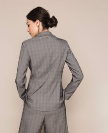 Glen plaid blazer Multicolour Glen Plaid Woman 201MP2060-04