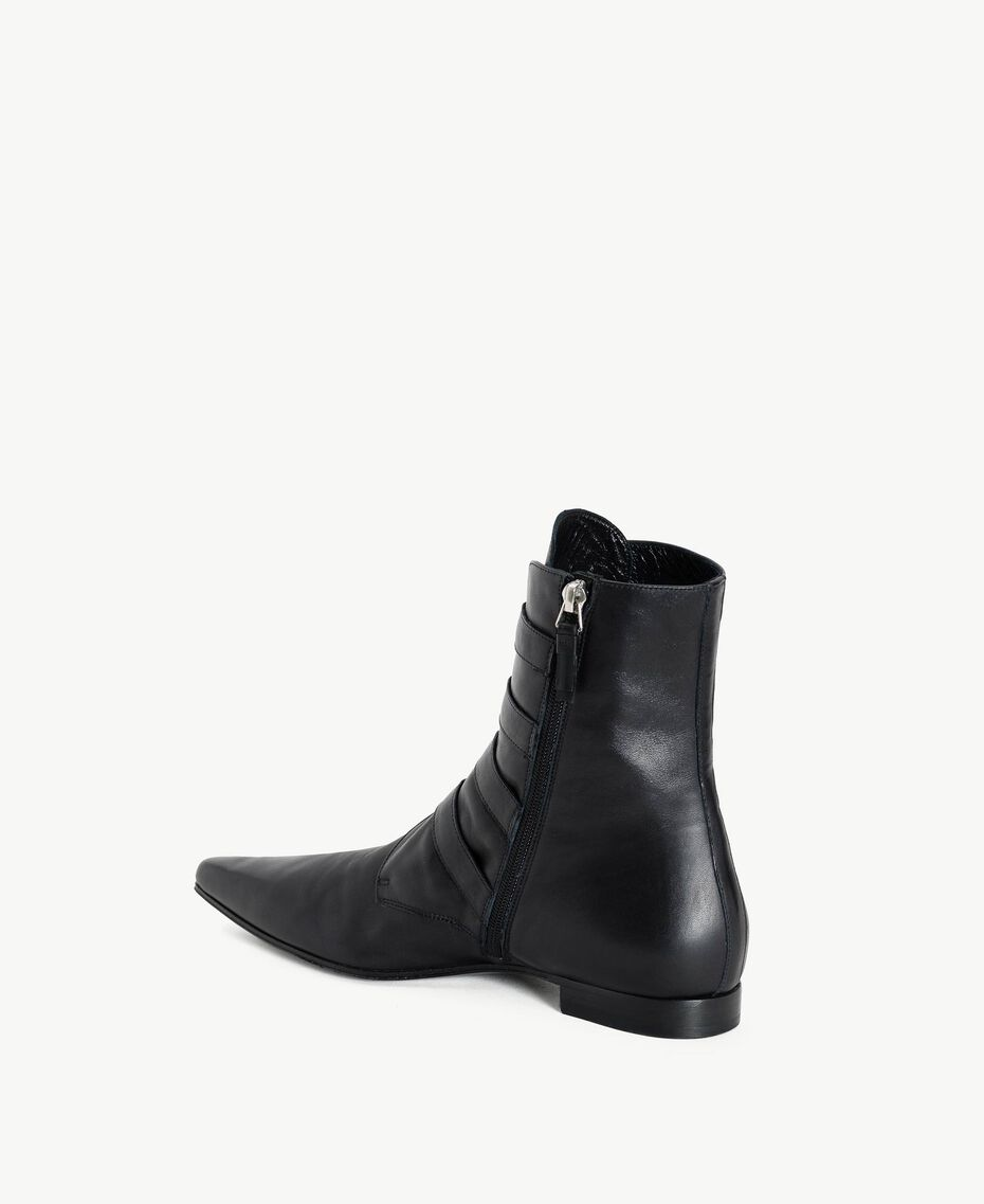 TWINSET Buckle ankle boots Black Woman CS8PE1-03