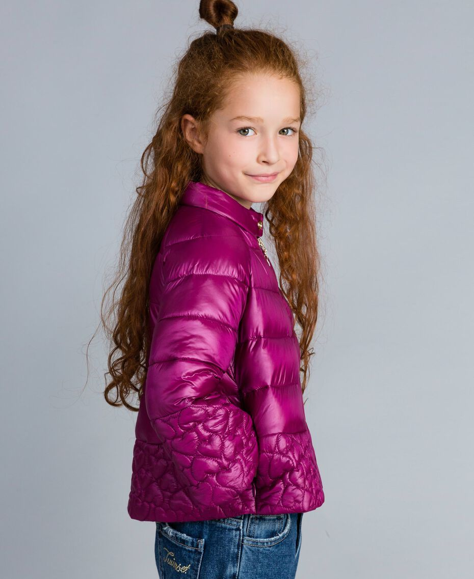 "Superleichte Steppjacke mit Herzen ""Sweet Grape""-Violett Kind GA82AX-02"