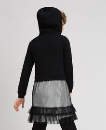 Cardigan with tulle inlay Black Child 192GJ3111-03