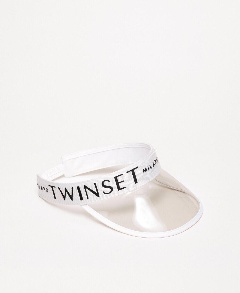 PVC visor with logo Antique White / Black Woman 201TO5404-01