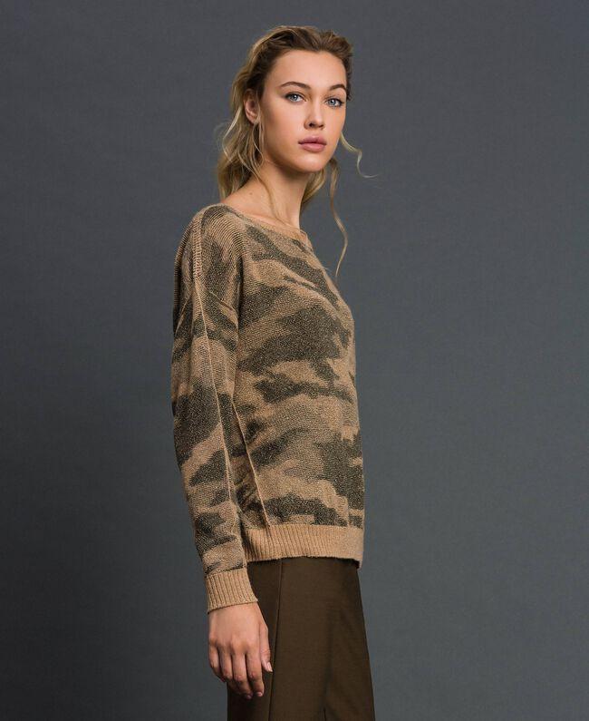 Pull jacquard motif camouflage Imprimé Camouflage Femme 192TT3191-01