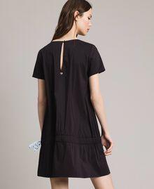 Robe en popeline avec cordon Noir Femme 191MP2191-05