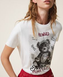 T-shirt con stampa e spille Off White Donna 202MT2303-01