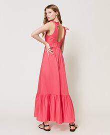 """Длинное платье из поплина Розовый """"Вишнево-розовый"""" женщина 211LM2EJJ-03"""