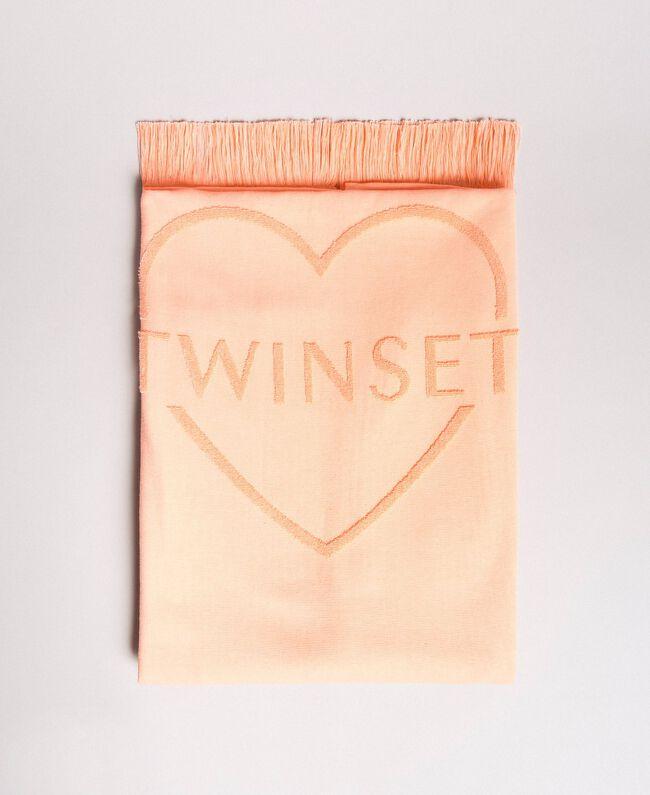 "Terrycloth beach towel with logo ""Tangerine Cream"" Pink Woman 191LB4ZFF-01"
