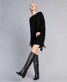 Mini-robe en mohair mélangé Noir Femme SA83BB-0T