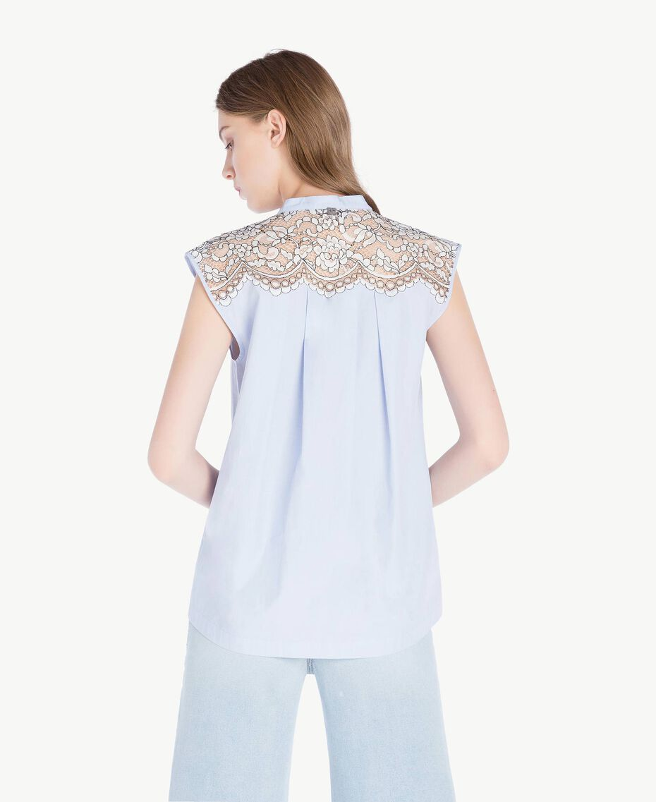 Ruffled top Topaze Sky Blue Woman JS82D6-03