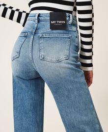 "Wide leg jeans ""Mid Denim"" Blue Woman 202MP2500-04"