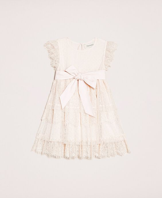 Tulle and lace flounce dress