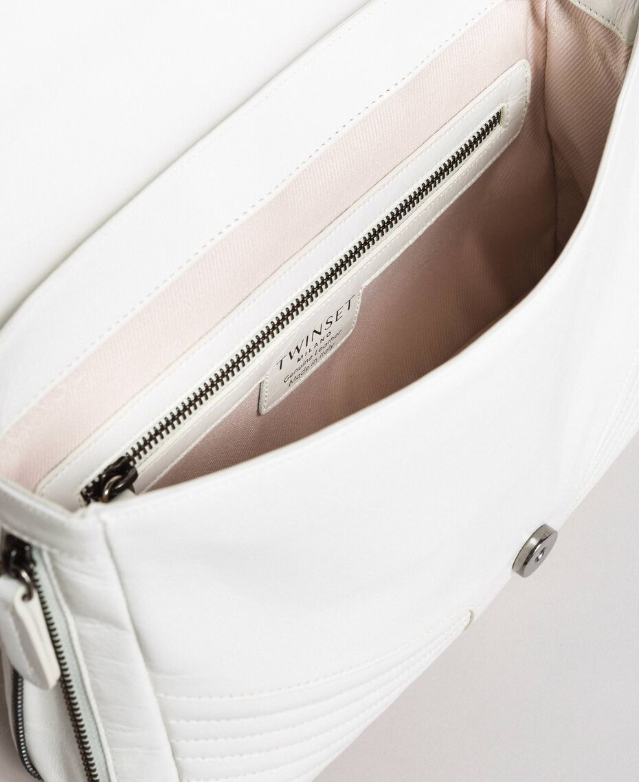 Sac à bandoulière Rebel en cuir Blanc Neige Femme 191TA7233-05