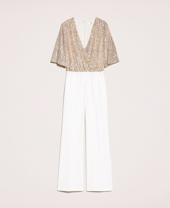 Jumpsuit with criss-cross and sequins