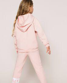 Толстовка с капюшоном и логотипом Принт Twinset Milano / Розовый Светлый Pебенок 201GJ2373-03