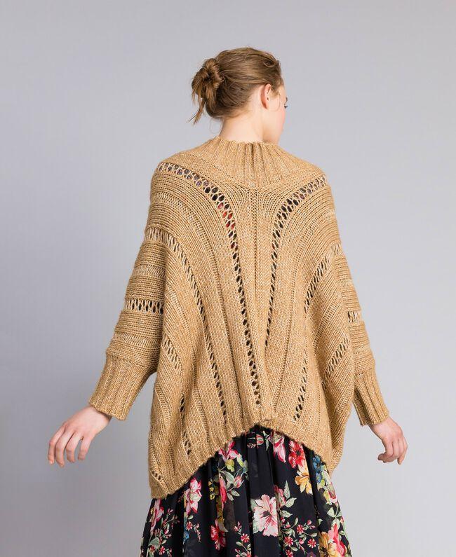 Mélange effect maxi jumper Camel Woman PA8371-03