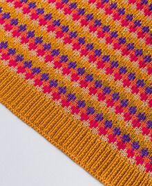 Écharpe jacquard multicolore Rayure Jacquard Camel Femme OA8T66-02