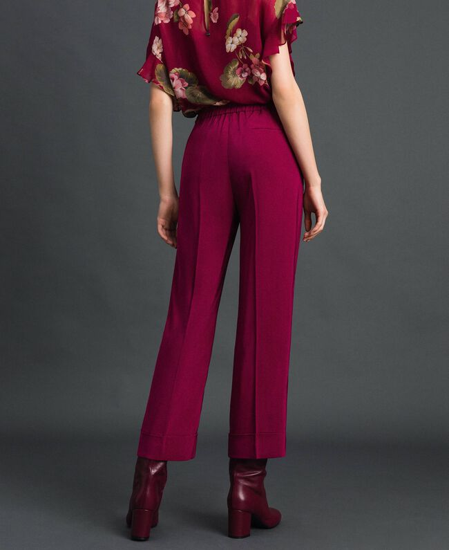 Georgette trousers Beet Red Woman 192TP2387-03