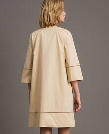 """Popeline-Kleid mit Stickerei """"Marzipan"""" Beige Frau 191TT2242-03"""