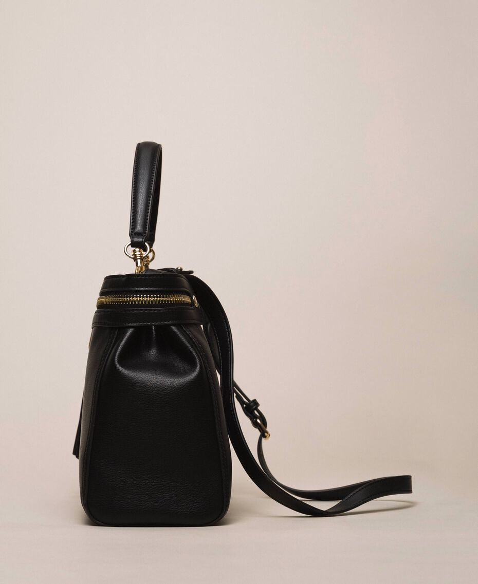 Large faux leather New Cécile bag Black Woman 201TO8180-03