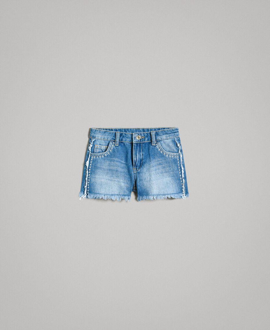 "Jeans-Shorts mit Stickerei Mittleres ""Denimblau"" Kind 191GJ2481-01"