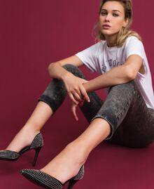 Escarpins en cuir avec clous all-over Noir Femme 192TCP152-0S