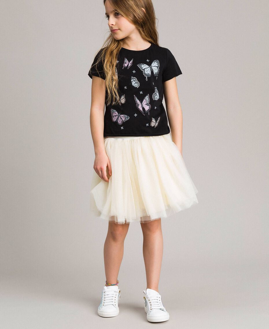 Tulle skirt Pale Cream Child 191GJ2700-02
