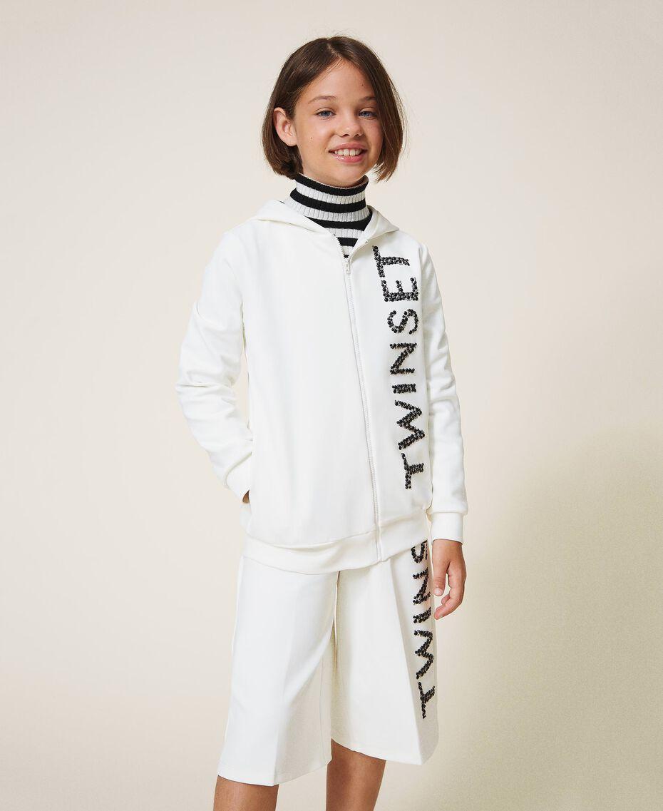 Длинная толстовка из неопрена с вышивкой Off White Pебенок 202GJ2700-01