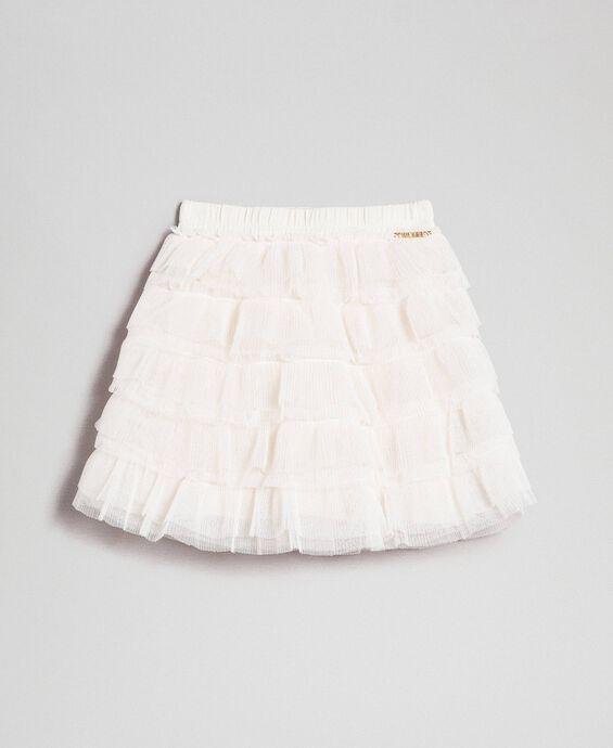 Pleated flounce tulle skirt