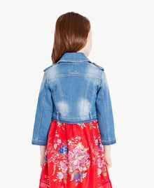 Denim biker jacket Light Denim Child GS82TP-04