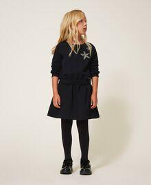 Plush dress with star Black Child 202GJ261C-01