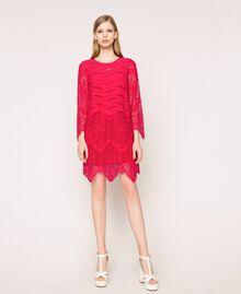 Robe en dentelle macramé Griotte Femme 201TP2030-01