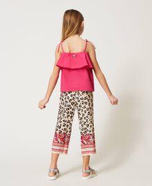 Pantalon avec imprimé animalier Imprimé Léopard & Cachemire Enfant 211GJ2249-03