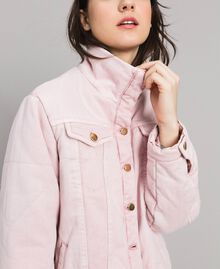 Padded denim jacket Pink Pearl Woman 191TP2340-04