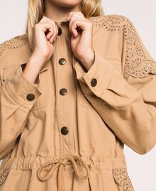 """Canvas dress with broderie anglaise """"Dune"""" Beige Woman 201TP2014-05"""