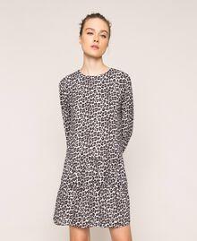 Платье из жоржета с животным принтом Принт Животный Лилия / Черный женщина 201MP2440-05