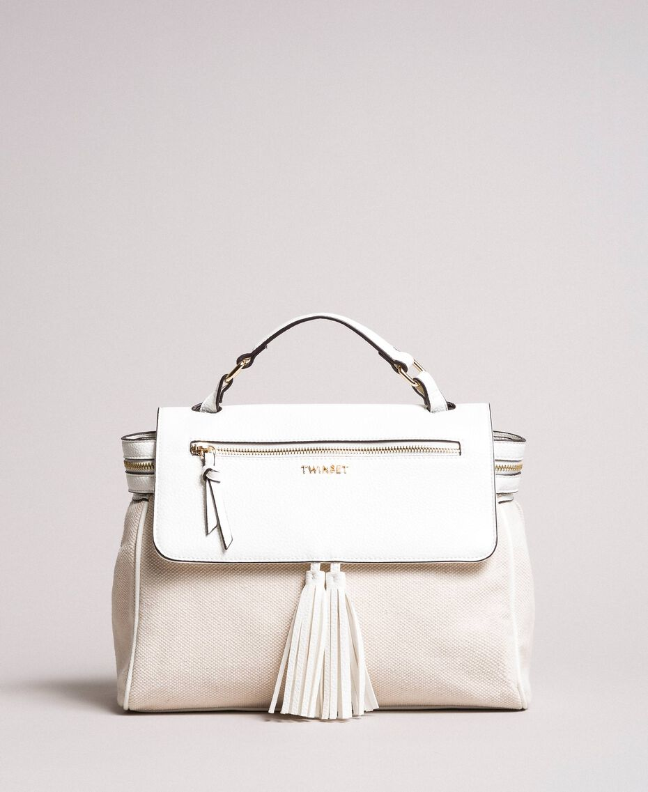Canvas Cécile bag White Snow Woman 191TO8184-03