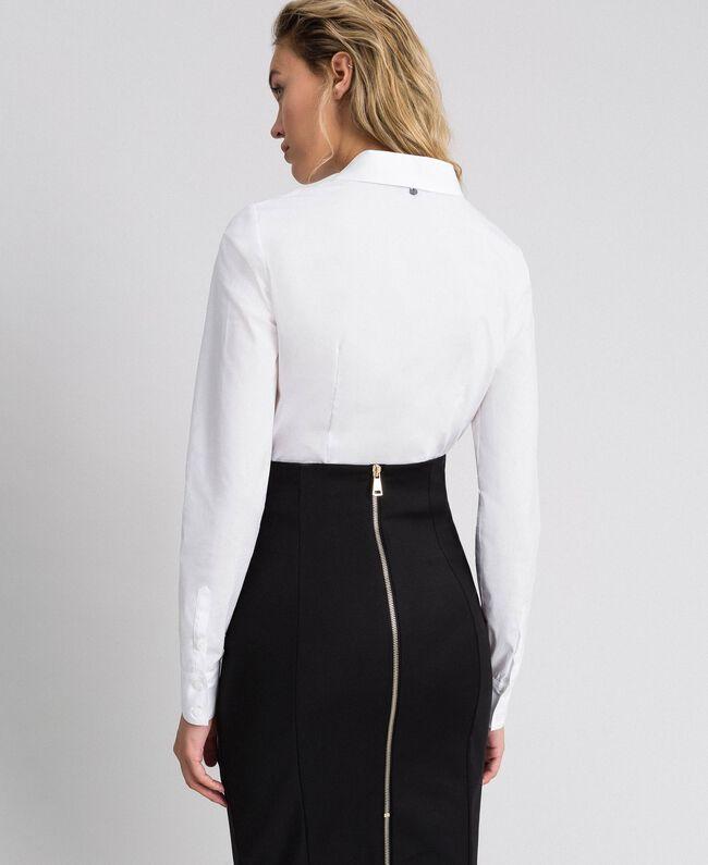 Poplin body shirt White Woman 999TT2020-03