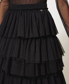 Jupe longue en tulle Noir Femme 211TQ2040-04