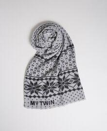 Écharpe avec imprimé effet jacquard Imprimé Flocons de Neige Lys / Noir Femme 192MO5316-01